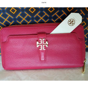 TORY BURCH MEYER ZIP CONTINENTAL WALLET LEATHER